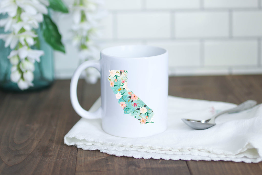 Floral California Coffee Mug