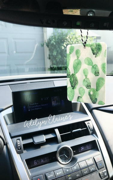 Rambler - Watercolor Cactus Print Car Scents