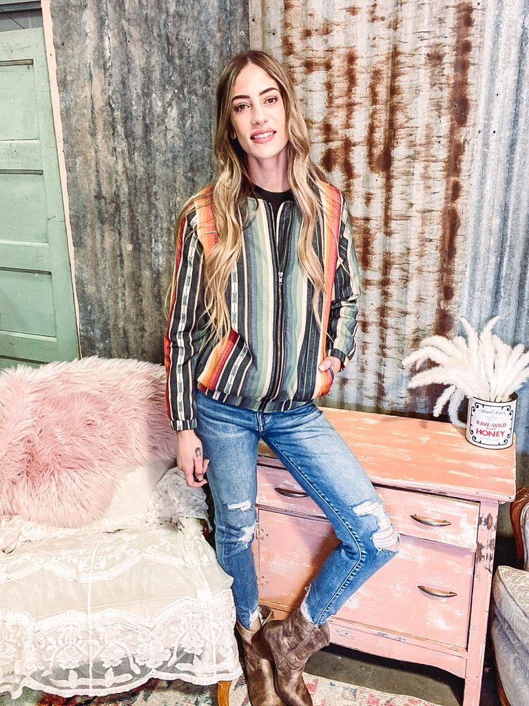 Islands in the Stream- Serape Jacket- Reg. & Plus Size