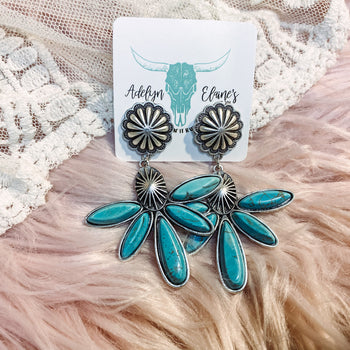 Brownsville- Turquoise Earrings