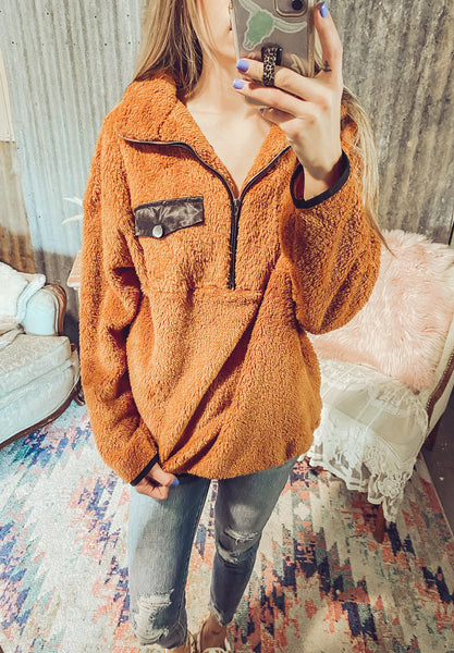 Side Shooter- Toffee Colored Pullover