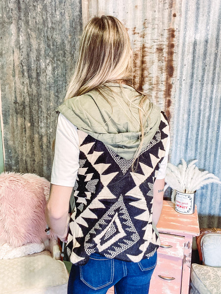 Fool Hearted Memory- Aztec Military Vest