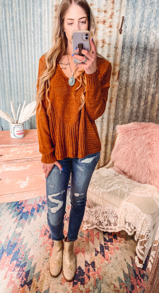 Up Down - Rust Sweater