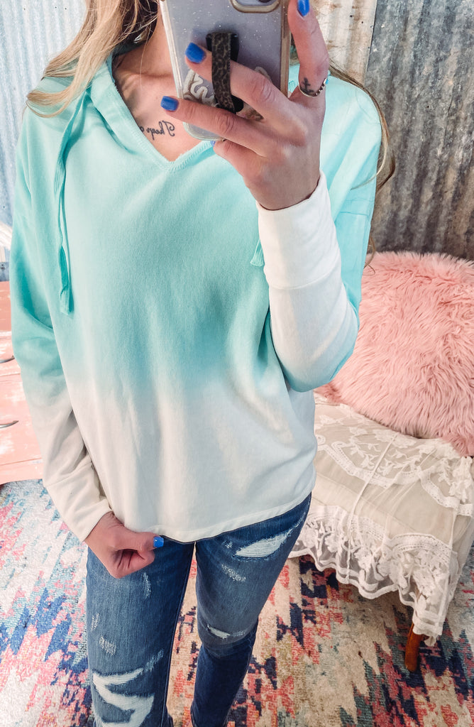 Mint Ombre Sweater - Large left