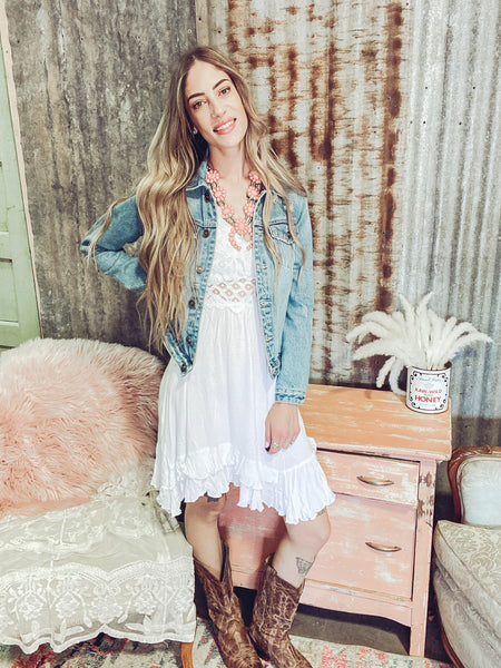 Heartland- Off White Lace Dress