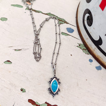 Hops-Genuine Turquoise Necklace NS2973