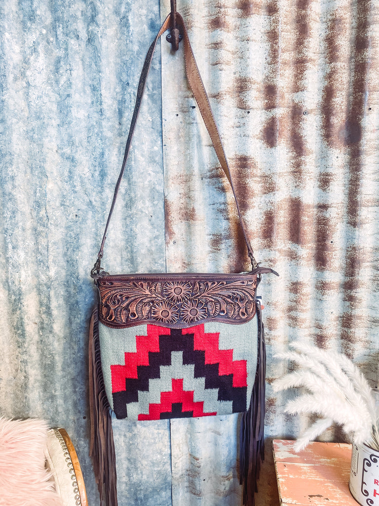 Palomino - Tooled Leather Saddle Blanket Purse