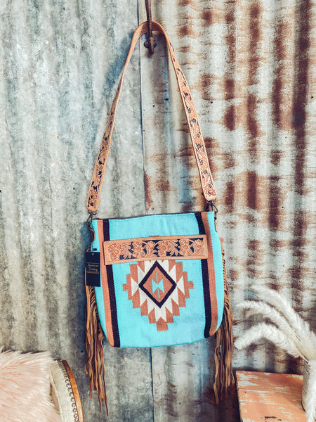 Chicksaw - Tooled Leather Saddle Blanket Purse