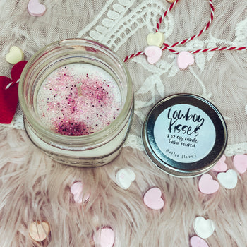 Cowboy Kisses -Valentines Candle