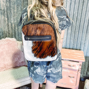 Texarkana Tricolored Cowhide Backpack