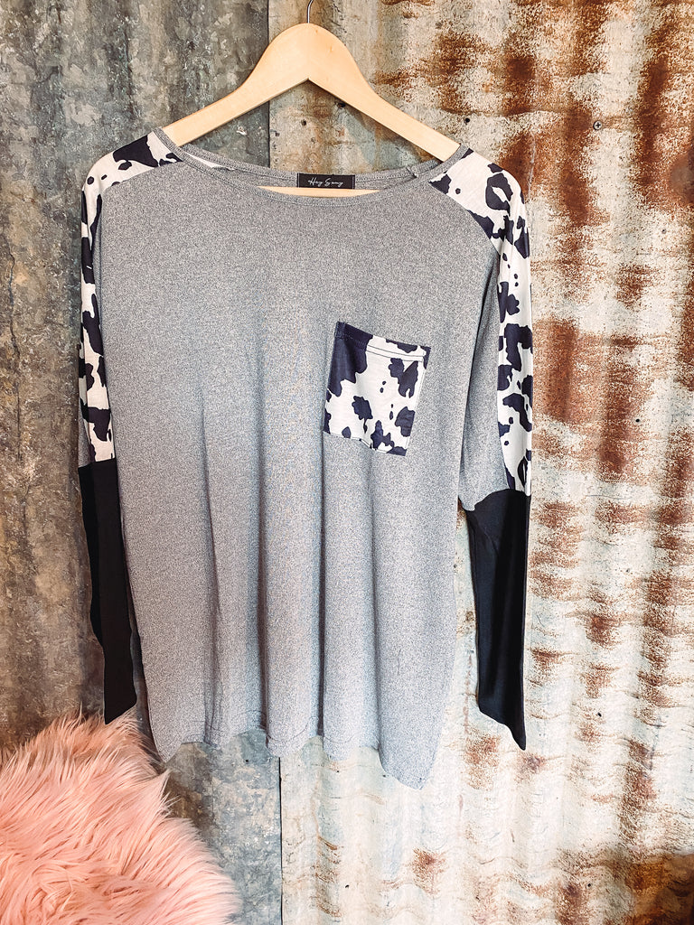 Thelma - Cow Print Long Sleeve