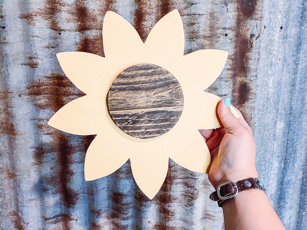 Sunflower Wood Wall Hanging