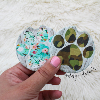 Dog Paw - Car Coasters