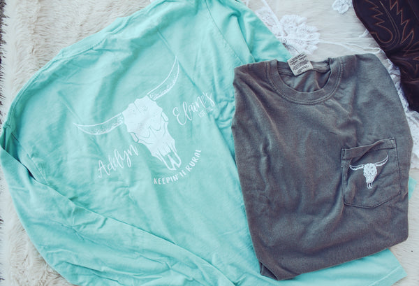 Logo Long Sleeve - Mint or Gray