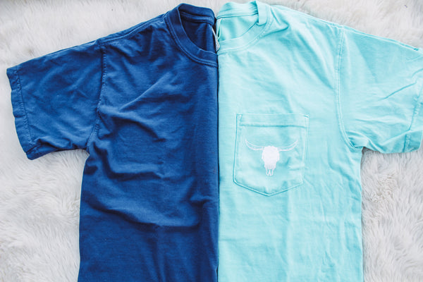 Logo Short Sleeve - Mint, Gray, Dark Blue or Peach