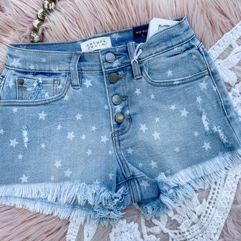 Oh My Stars Denim Shorts