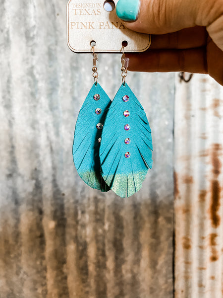 Swarovski Feather Earrings
