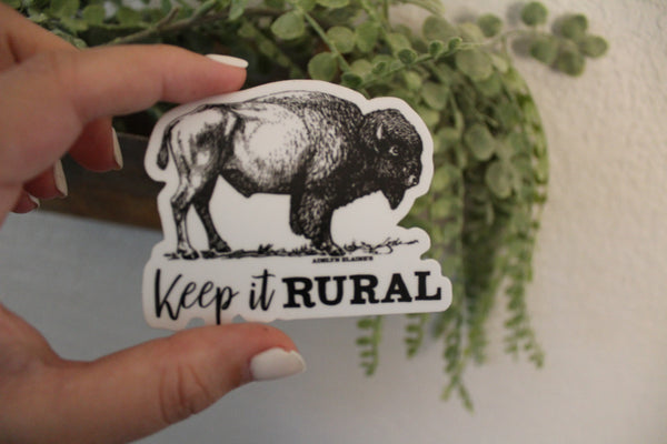 Keep It Rural - Buffalo Sticker