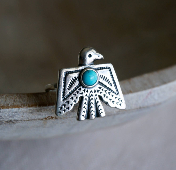 Thunderbird Turquoise Ring - Genuine Turquoise RS1556-TQ