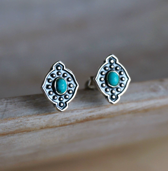 Tammy Earrings - Genuine Turquoise