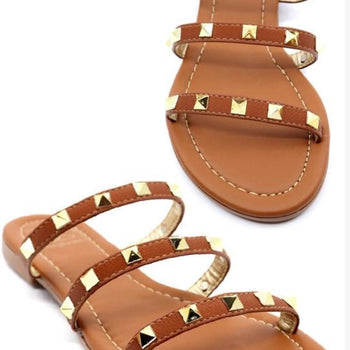 FINAL SALE Sunday Stroll- Studded Sandals