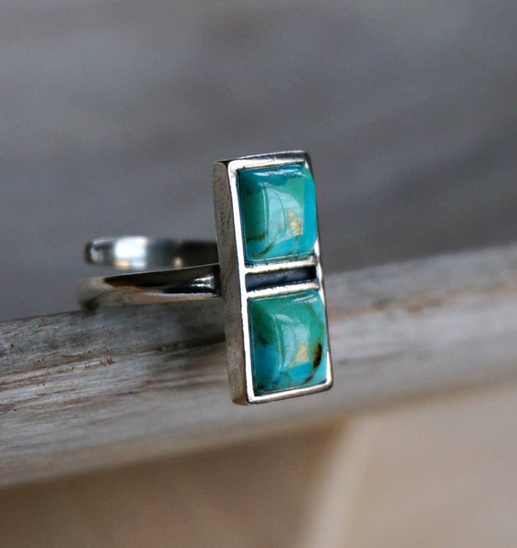 The Poppy Turquoise Ring - Genuine Turquoise