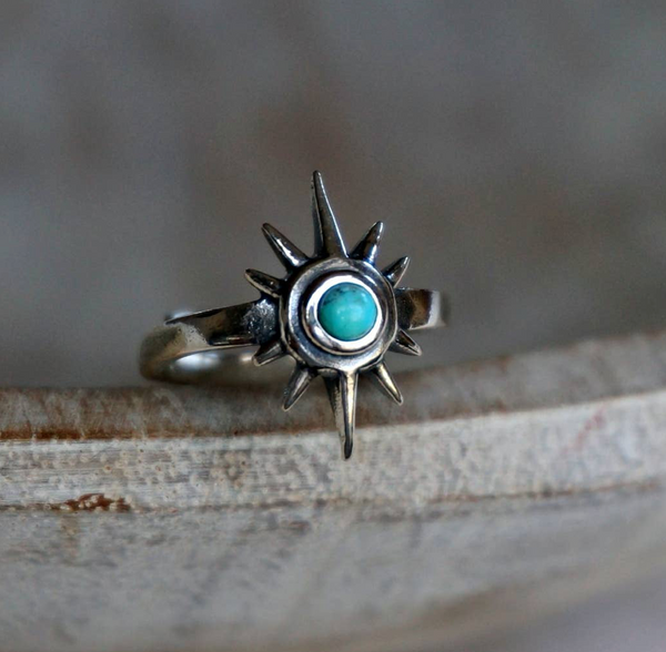 Galaxy Turquoise Ring - Genuine Turquoise