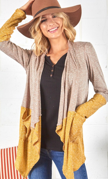 Wild Horses - Color Block Cardigan - S & L left