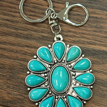 Safford - Turquoise Single Pendant Keychain