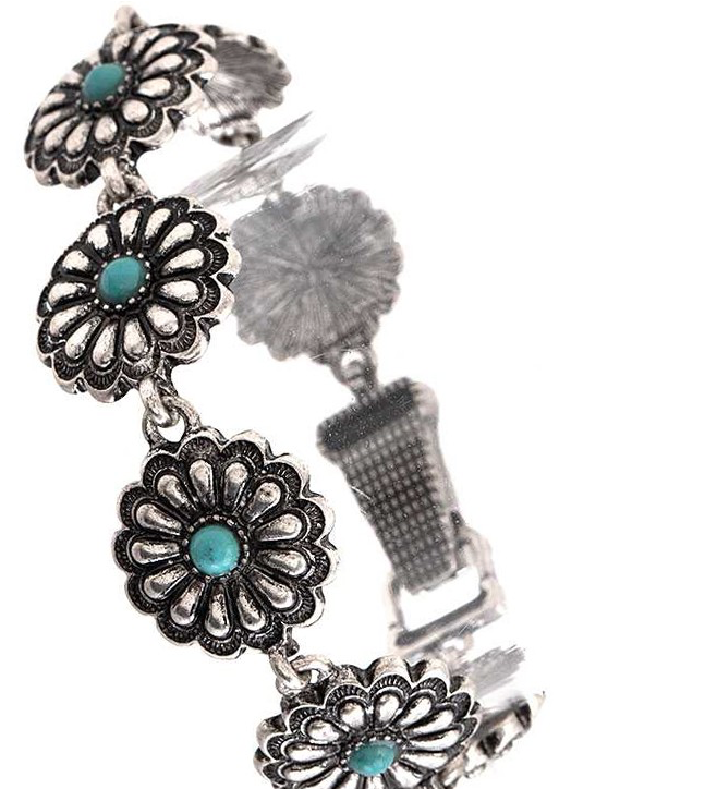 Bloomin' - Concho Turquoise Bracelet