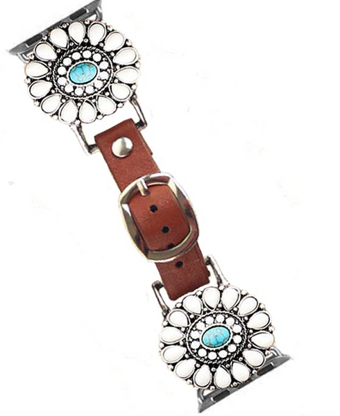 Buffalo Medallion - Turquoise Apple Watch Band