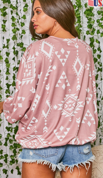Come & Get Me- Southwestern Long Sleeve