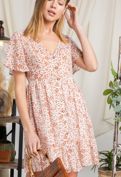 Your Cheatin' Heart - Floral Button Down Dress Reg + Plus