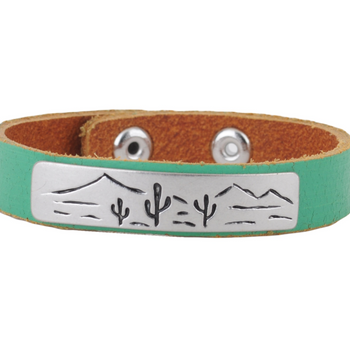 Cactus Leather Bracelet