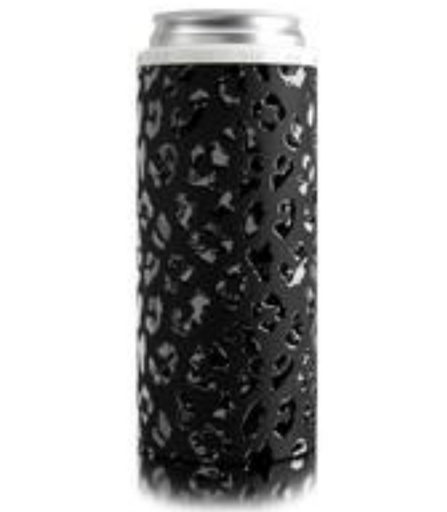 Slim Can Koozie Leopard Eclipse