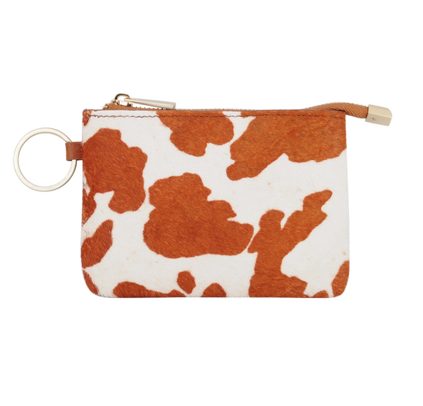 Cow Print Coin Purse