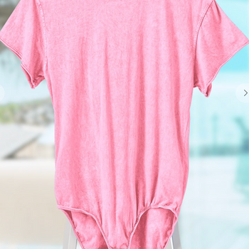 Pink - Short Sleeve Body Suit