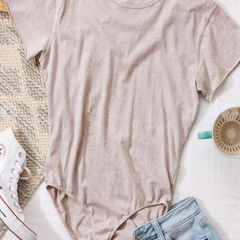 Vintage Taupe - Short Sleeve Body Suit