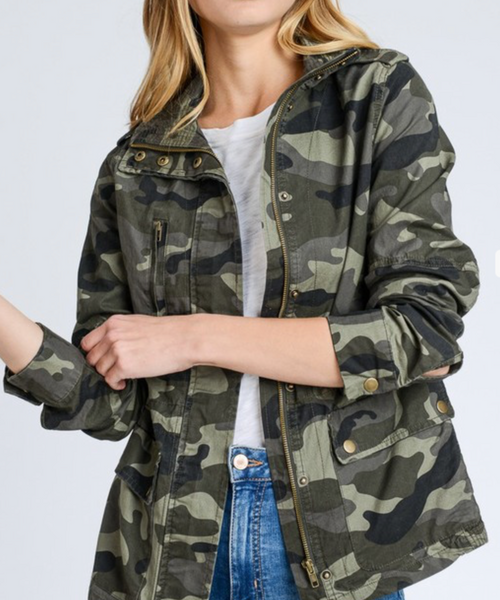 I Cross My Heart - Camo Utility Jacket