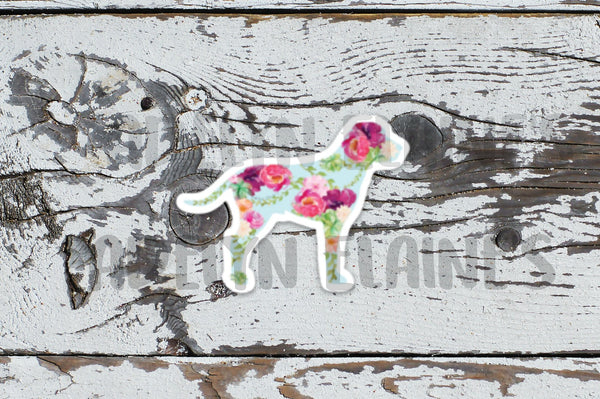 Floral Fido Sticker
