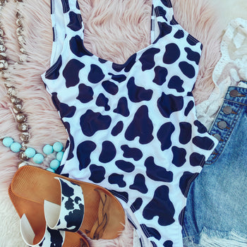 Cow Print Swim Suit