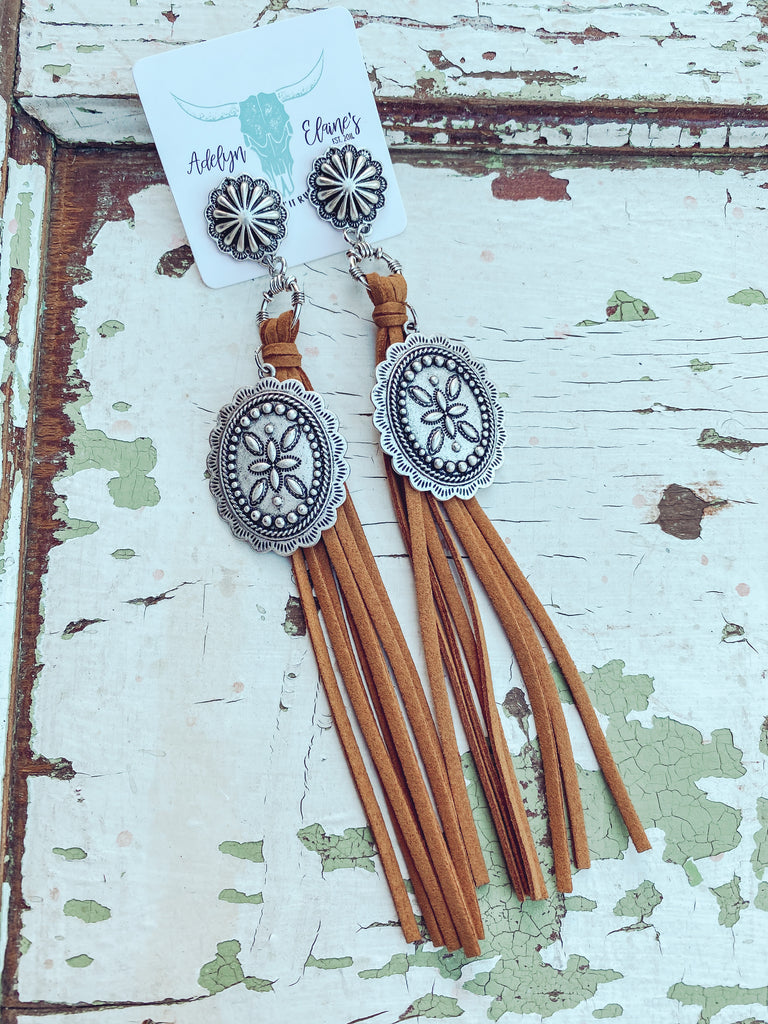 Round Rock - Tassel Earrings