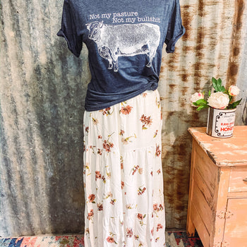 Sin Wagon - Floral Maxi Skirt