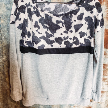 Cow Print Thermal - Smalls left