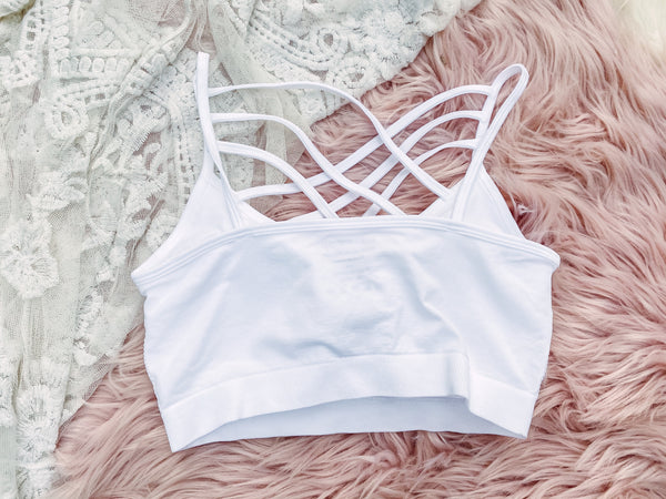 White - Criss Cross Bralette