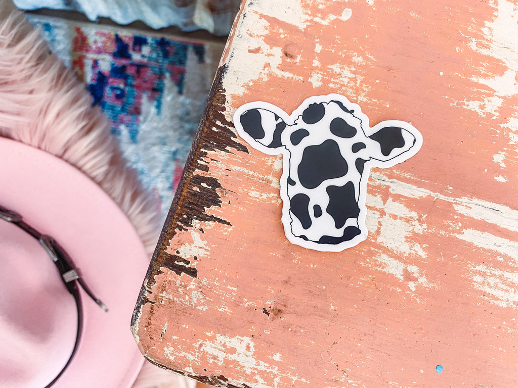 Cow Print Head - Sticker