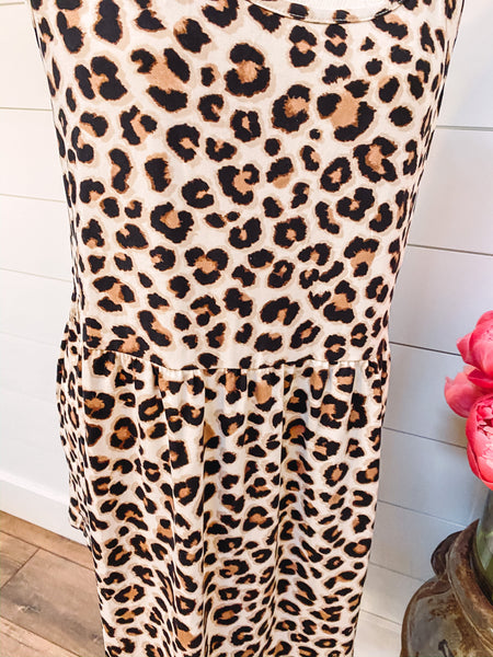 Cheetah Tie Dress