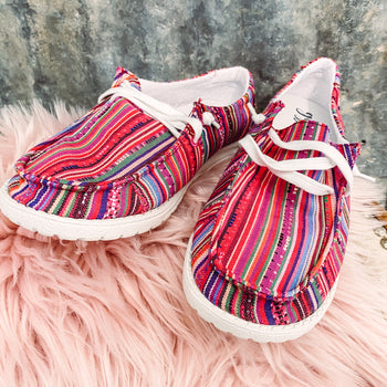 Wide Open Spaces Slip On's - Serape