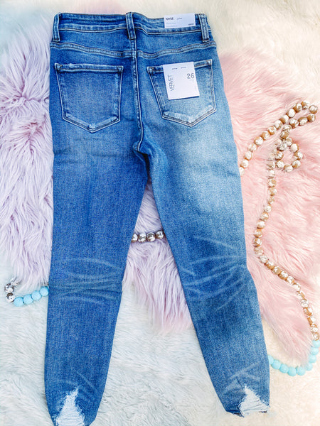 Track Record - Distressed Denim Jeans