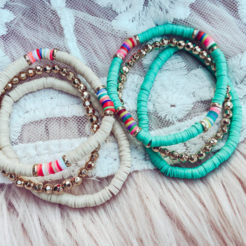 Funfetti Bracelet - Stretch Bracelet Set